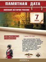7 июля - День воинской славы России.
