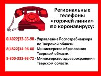 """Телефоны """"горячей линии"""" по коронавирусу"""